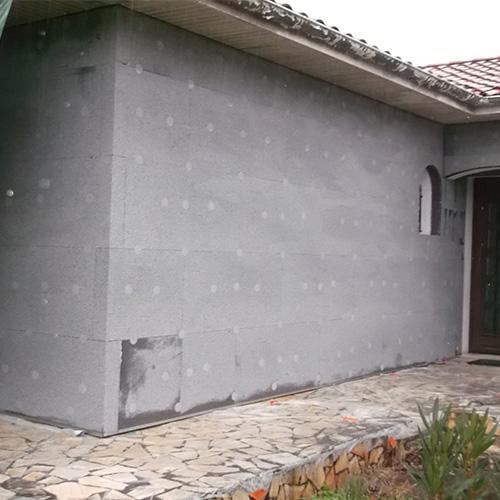maison merignac gironde 33 pendant les travaux d'isolation thermique par l'extérieur ITE