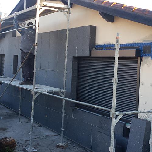 Isolation des murs par l'extérieur à Cestas (Gironde)