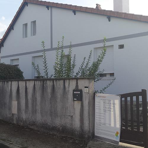 Maison de Pessac (Gironde) après isolation des murs par l'extérieure