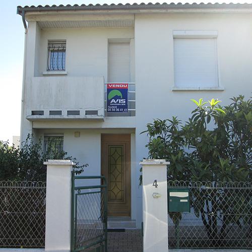 Façade maison Talence (33) avant rénovation