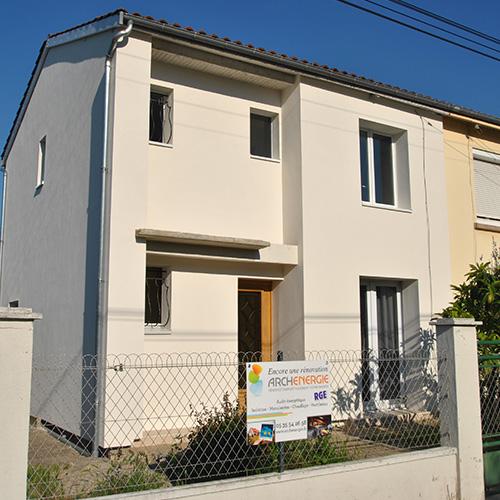 Maison Talence (33) après isolation extérieure de la façade