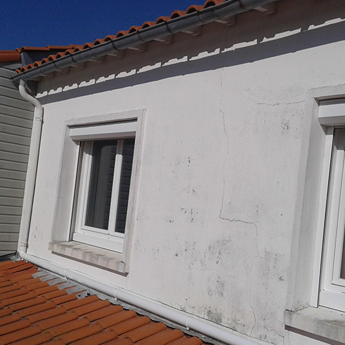 Façade maison Perigny (17) avant rénovation