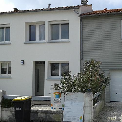 Maison Périgny (17) après isolation extérieure de la façade