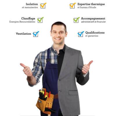 Archenergie , un interlocuteur unique et qualifié, avec une vue globale de votre projet d'ITE.