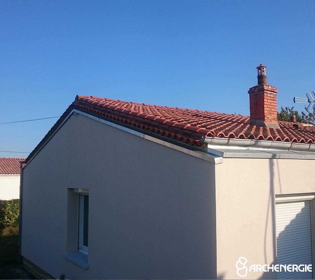isolation extérieure murs raccord toiture terrasses débords de toit