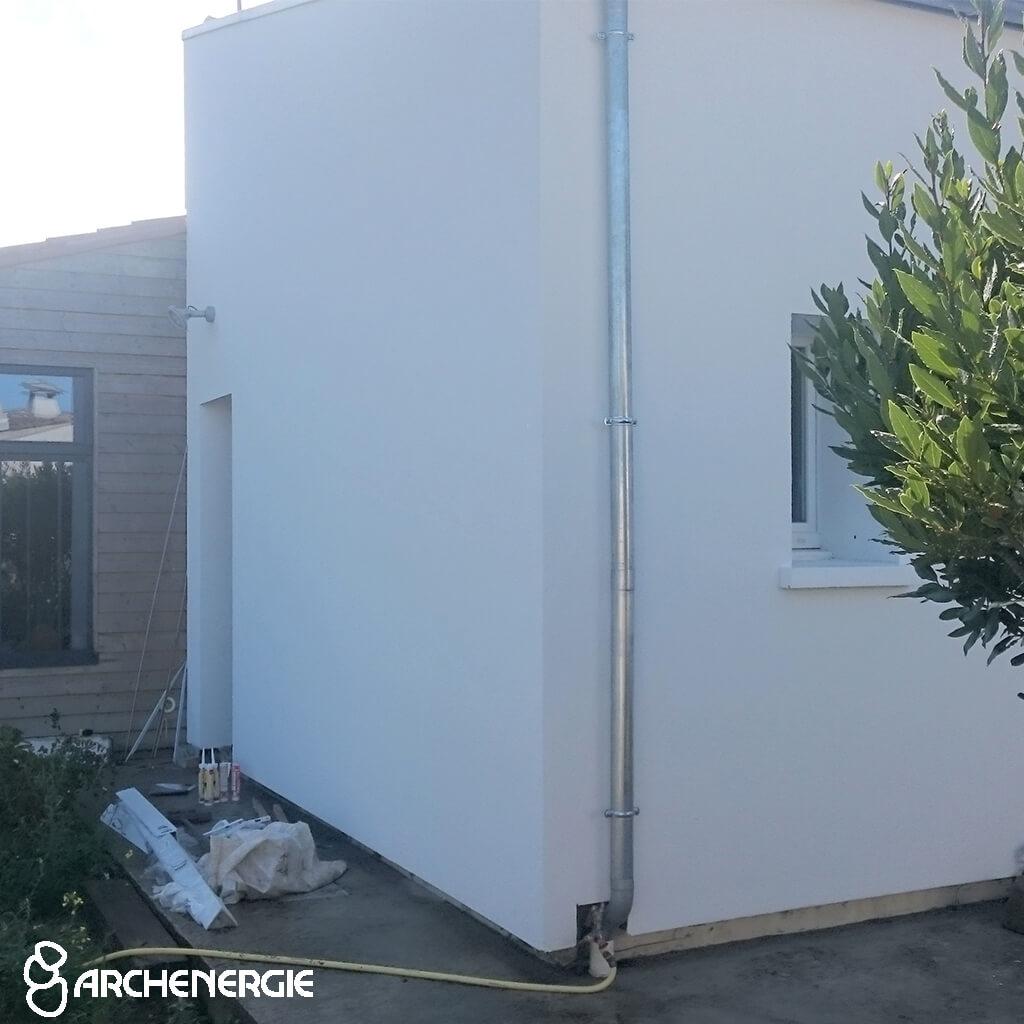 Maison Bois Plage en Ré (17) après isolation extérieure de la façade