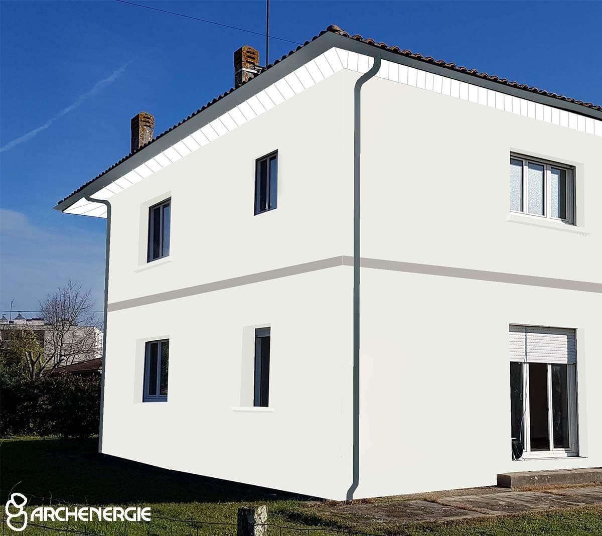 vue immersive projection façade après isolation