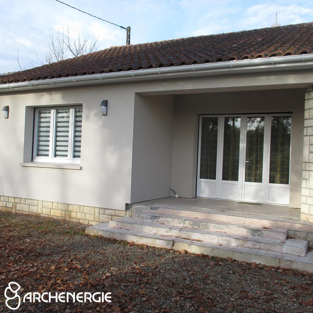 Isolation par l'extérieur d'une maison à Andernos - après travaux