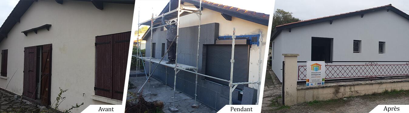 Isolation, fenêtres, volets pour un nouvel écrin à Cestas