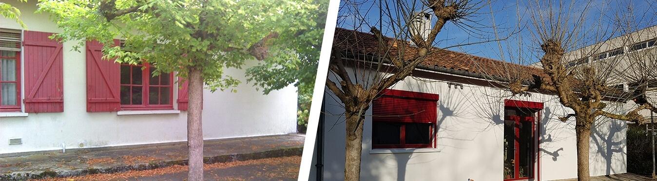 Une maison des années 60 plus confortable et performante à Gradignan Avant - Après travaux