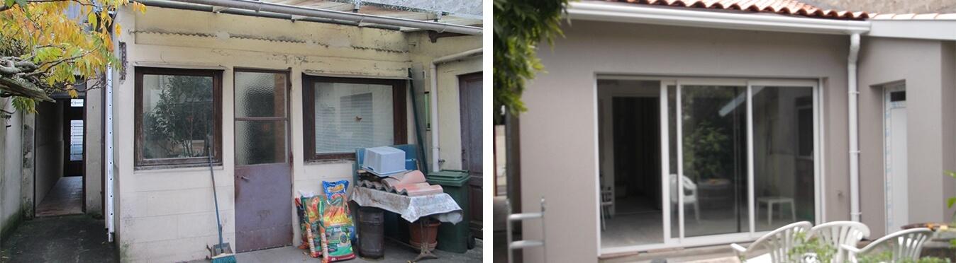 Rénovation globale au coeur de Bordeaux avant et après travaux