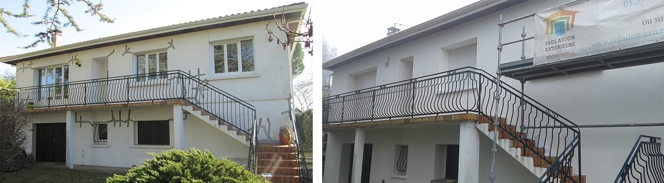 Rénovation thermique pour une retraite confortable au Taillan avant et après travaux