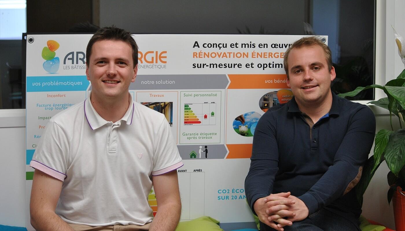 Pierre Rivallan et François Maxime Fuchs, fondateurs d'Archenergie