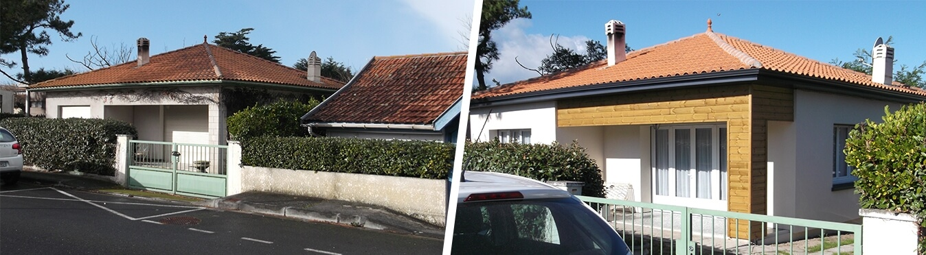maison Carcans Océan gironde 33 avant et après rénovation archenergie