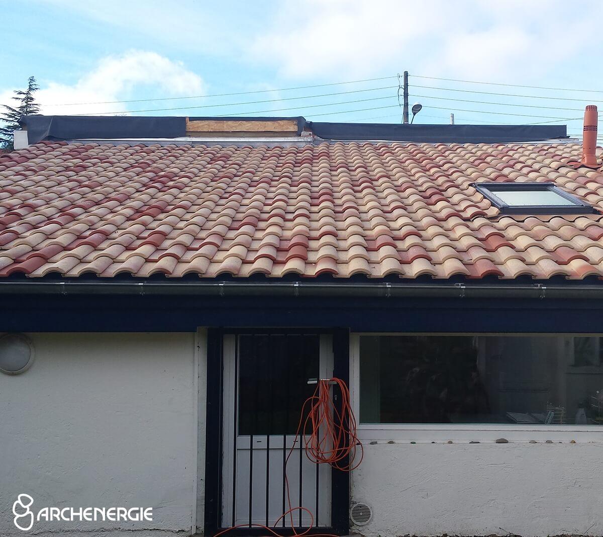 Sarking et isolation d'une toiture terrasse à Pessac - après travaux