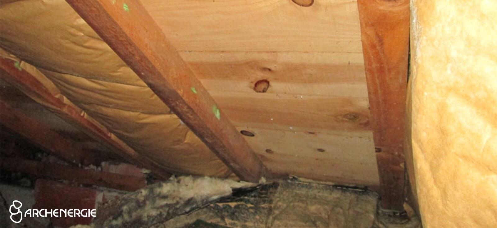 Isolation des rampants par l'intérieur - Fibre de bois - Mérignac