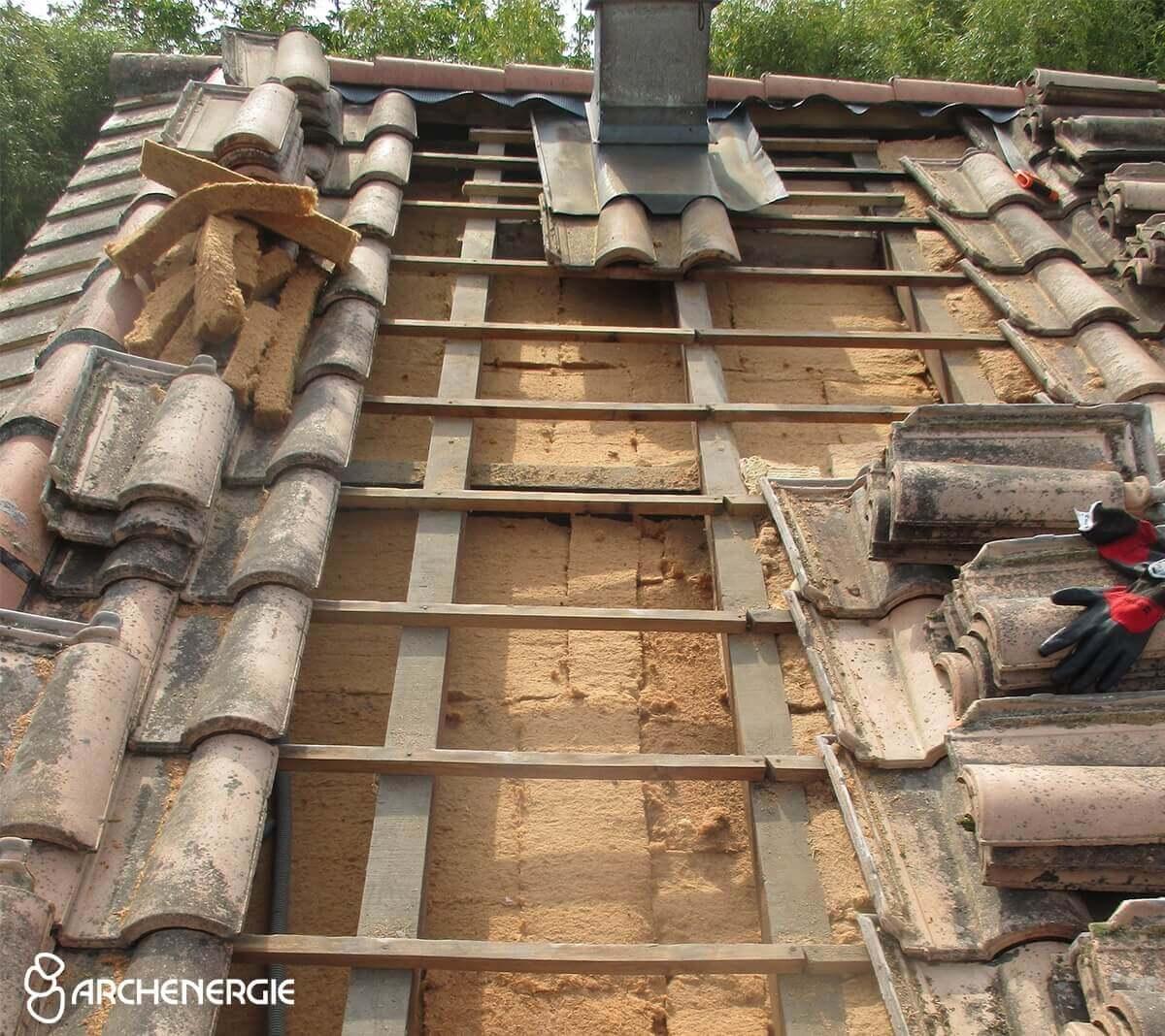 Camarsac - Fibre de bois installée - Confort thermique, évite la surchauffe estivale et les fuites d'air