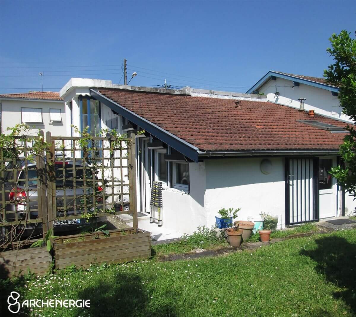 Pessac - ancienne toiture terrasse et couverture