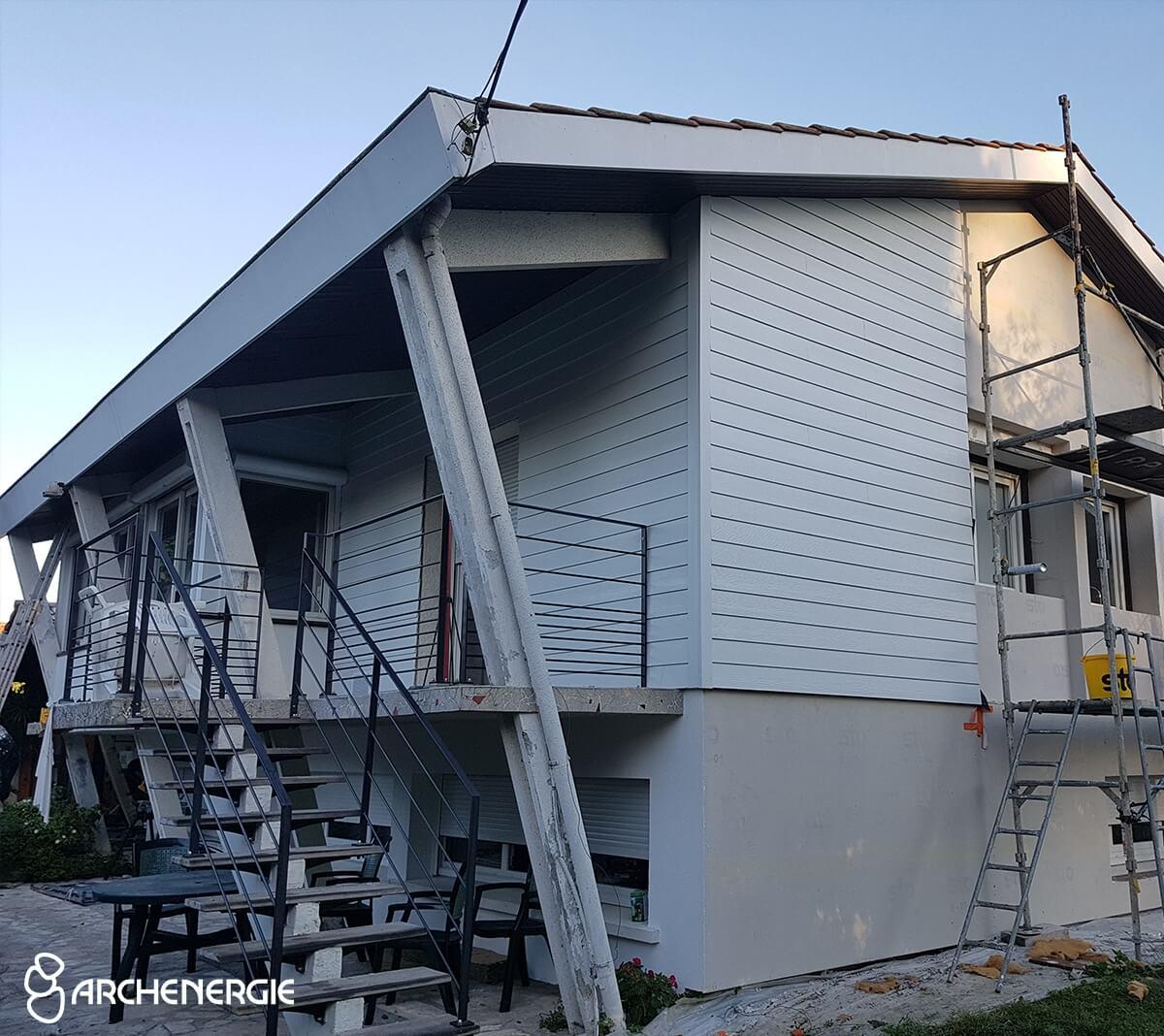plus d'isolation pour cette maison d'architecte de Mérignac (33)