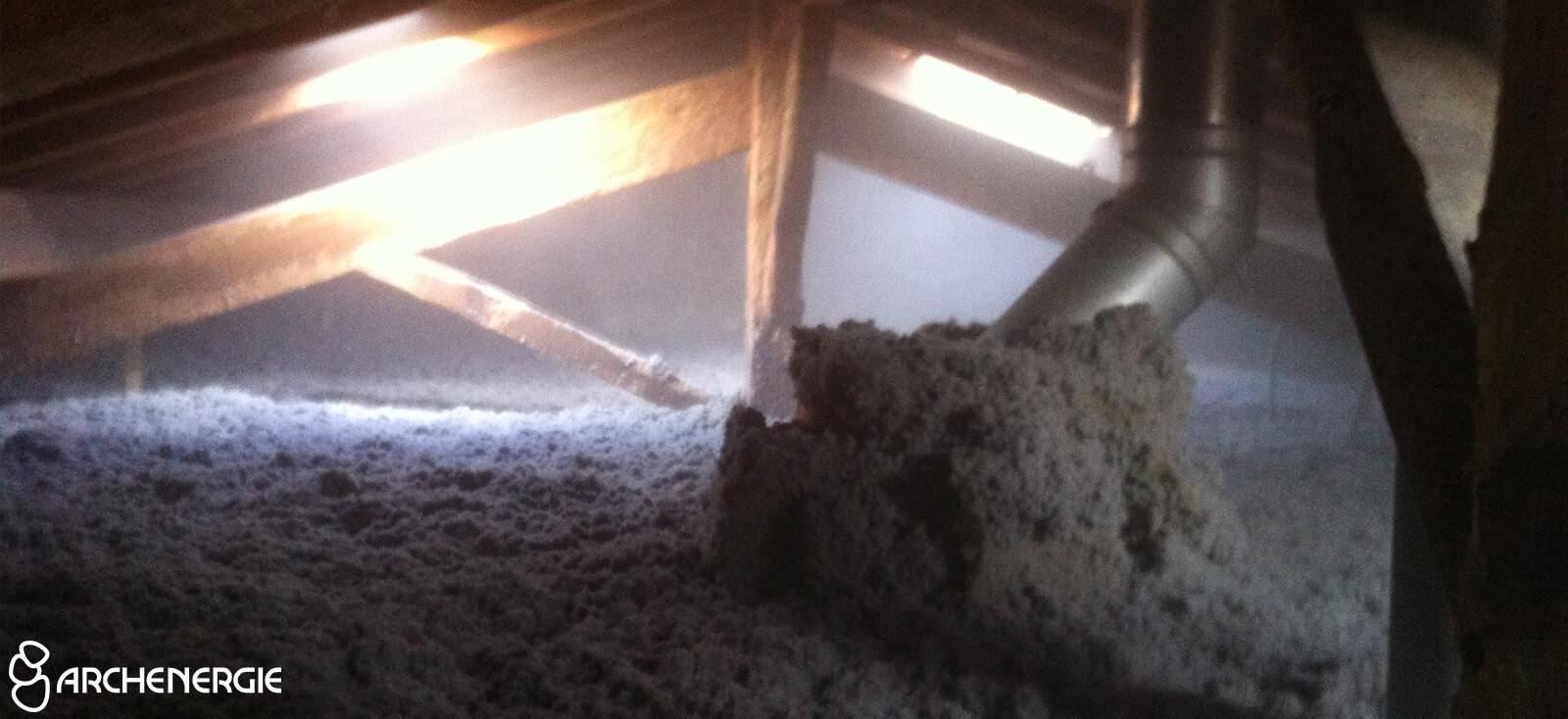 Isolation du comble perdu par soufflage de ouate de cellulose à Talence (Gironde – 33)