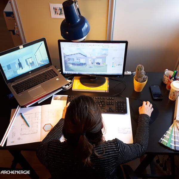 Archenergie dispose en interne d'un bureau d'étude et de conception - extension