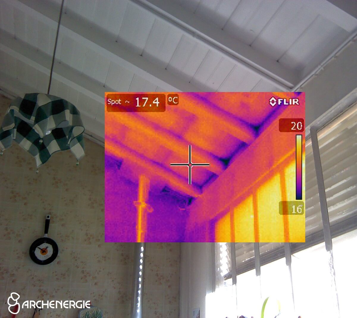 Avant rénovation thermique à Bègles - la chaleur rentre - caméra thermique