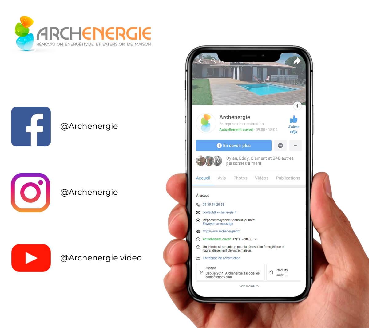 Archenergie est sur les réseaux sociaux