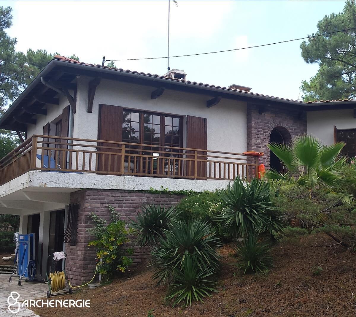Villa Cap Ferret avant travaux de rénovation - Archenergie