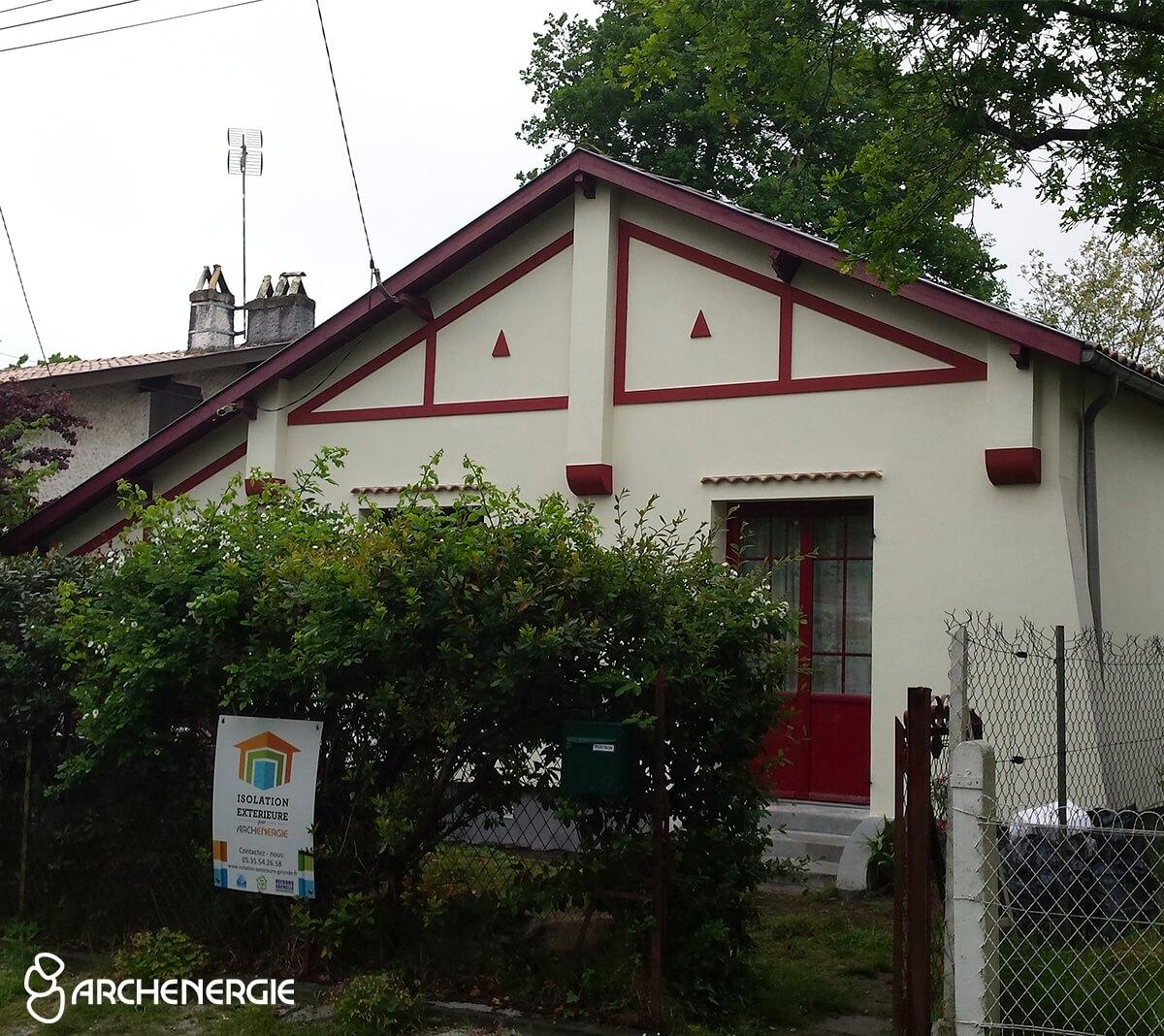 maison andernos gironde 33 après travaux isolation extérieure