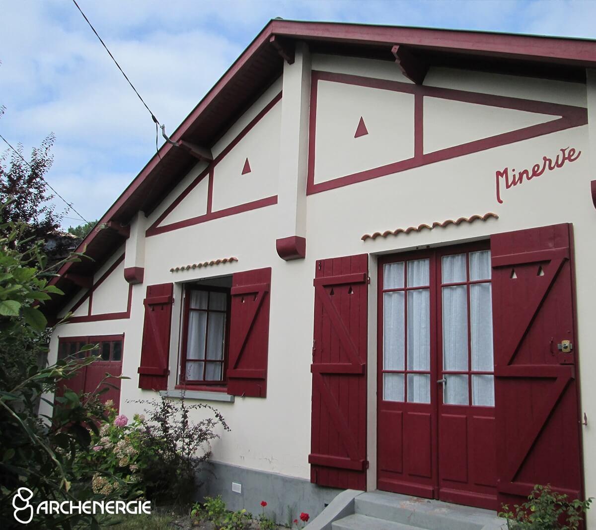 maison andernos gironde 33 avant isolation thermique par l'extérieur