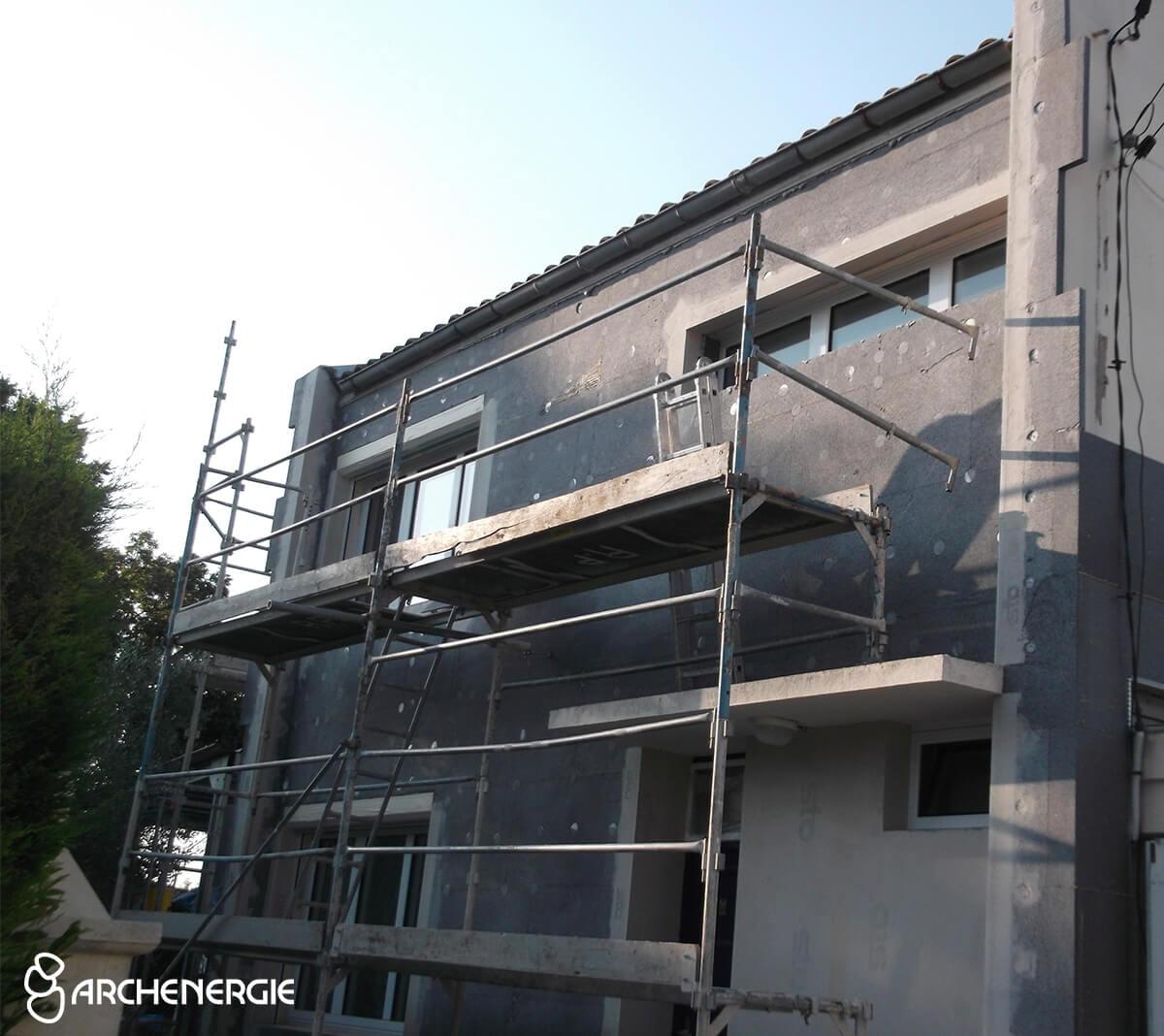 maison bassens gironde 33 pendant travaux isolation extérieure
