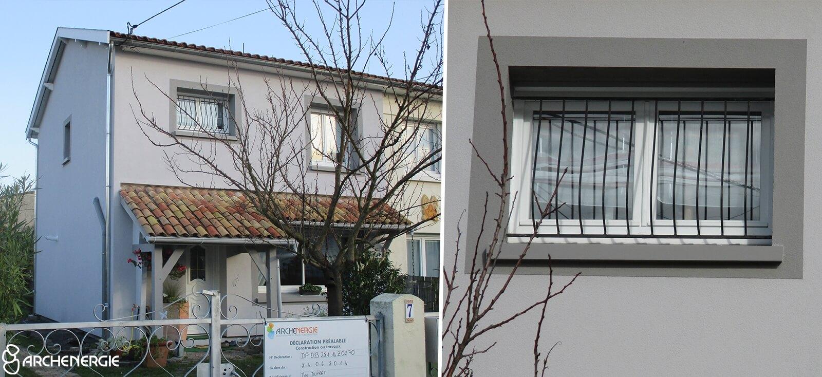 maison merignac 33 après travaux isolation extérieure