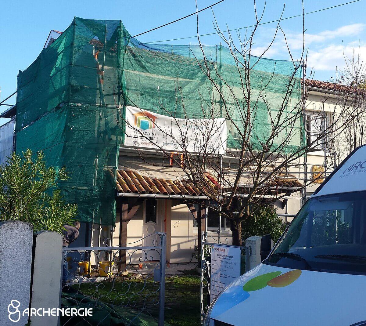 maison merignac 33 pendant travaux isolation extérieure
