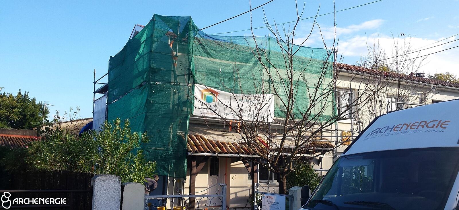 maison merignac 33 travaux isolation extérieure
