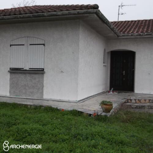 maison merignac gironde 33 avant travaux d'isolation thermique par l'extérieur ITE
