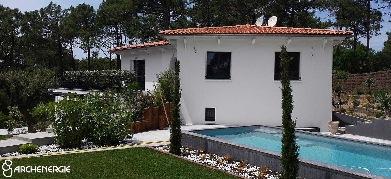 Villa Cap Ferret après travaux de rénovation - Archenergie
