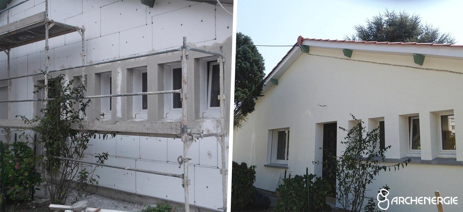 maison mérignac gironde 33 - isolation thermique par l'extérieur I.T.E