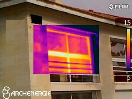 thermographie des menuiseries - rénovation maison bordeaux