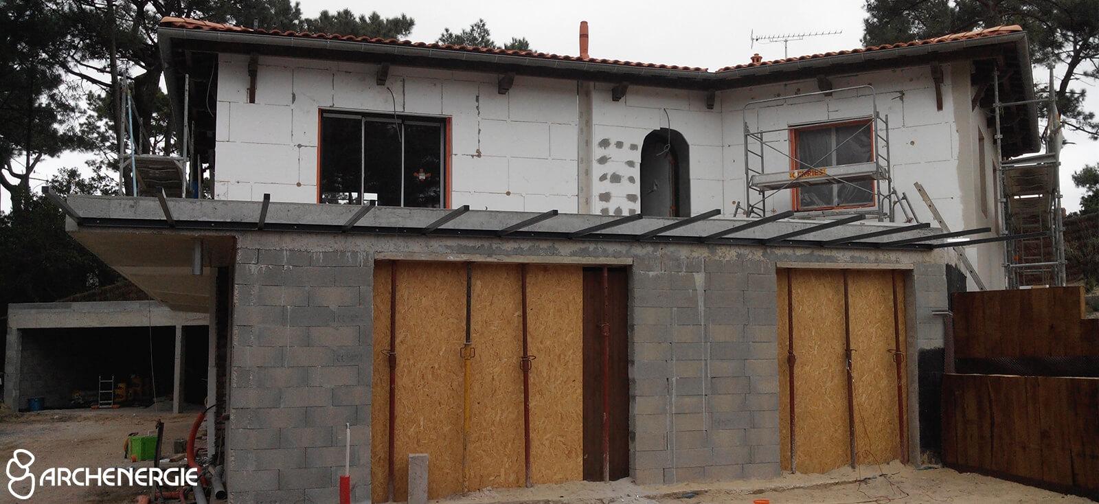 Villa Cap Ferret pendant travaux de rénovation - Archenergie