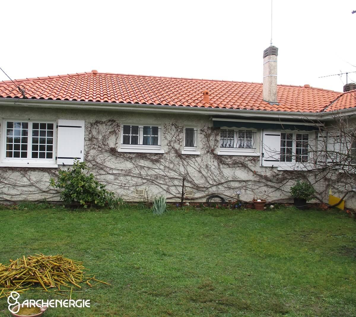 Façade maison Villenave d'Ornon (33) avant ITE