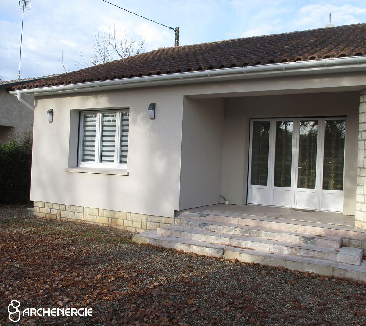 Maison Andernos (33) après isolation extérieure