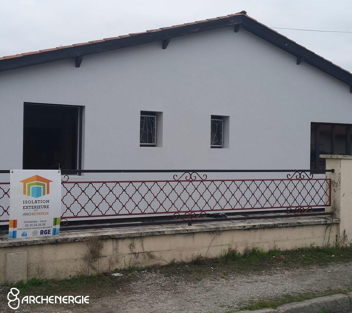 Maison Cestas (33) après isolation extérieure