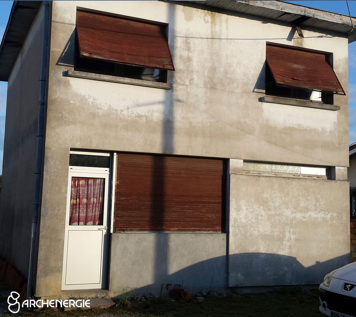 Maison Pessac (33) avant isolation thermique par l'extérieur