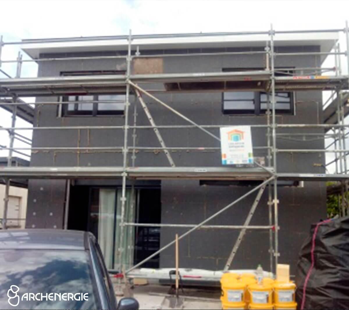 Maison Pessac (33) pendant travaux isolation extérieure