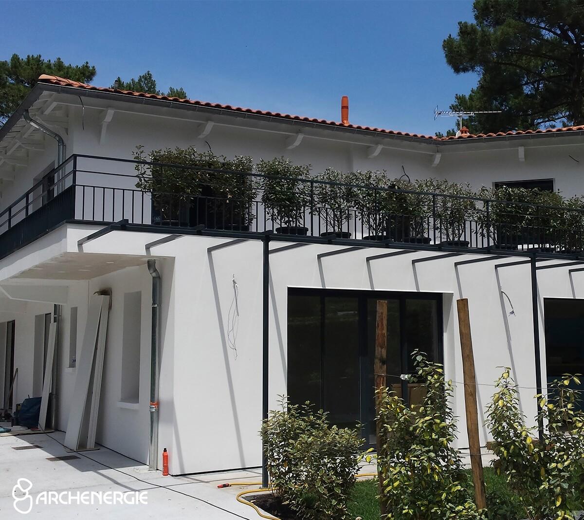 Villa cap Ferret après ITE