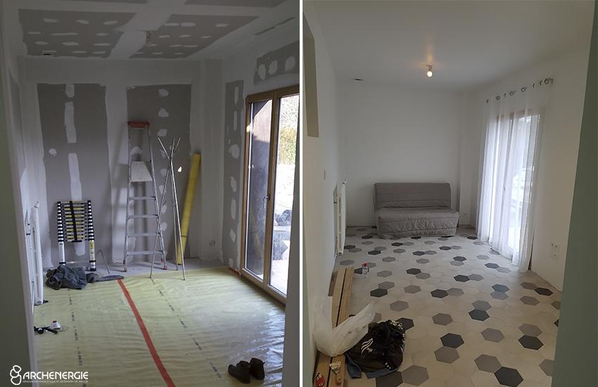 Extension maison Pessac - Travaux - Archenergie