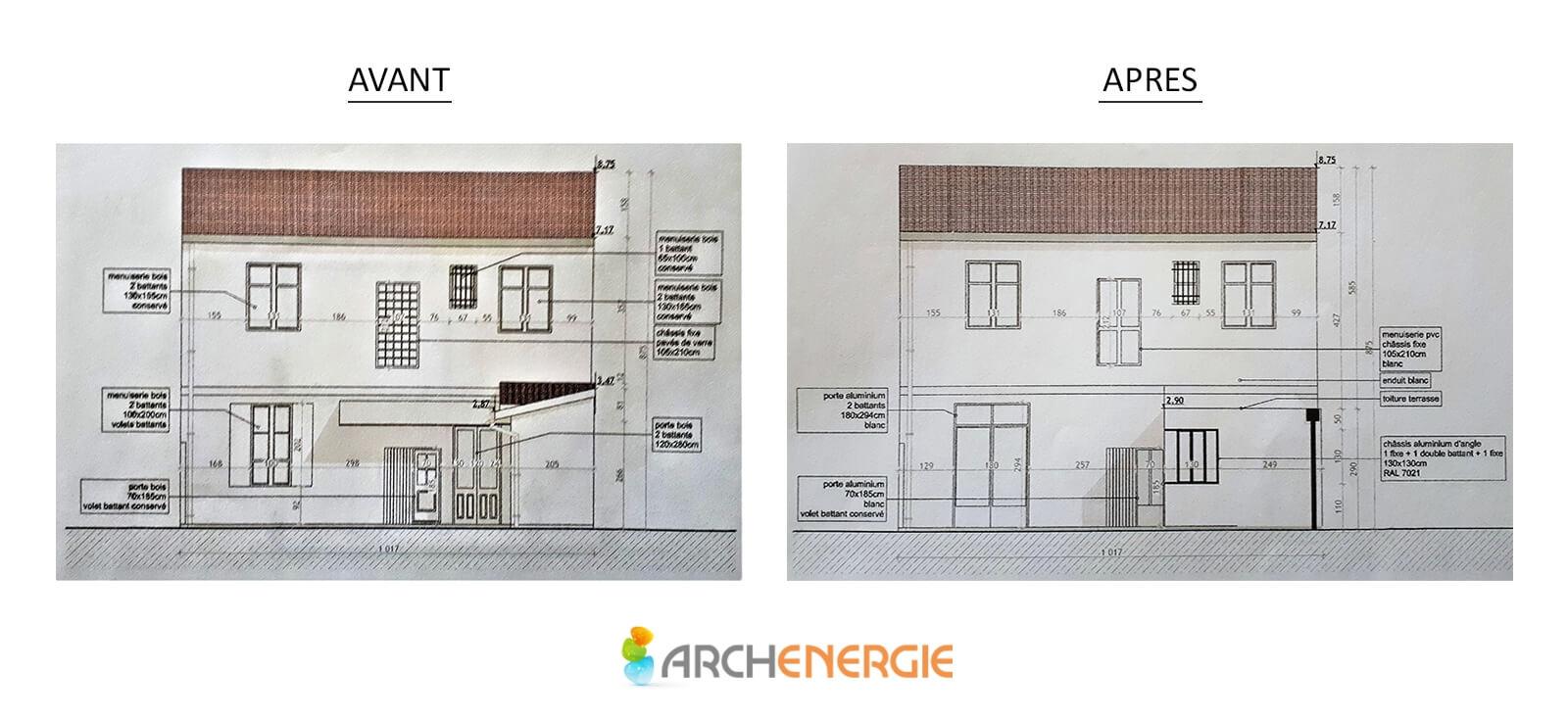 Plan extension - Archenergie