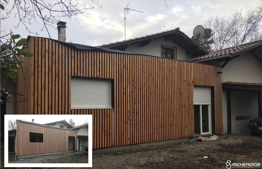 Extension maison Andernos - travaux - Archenergie
