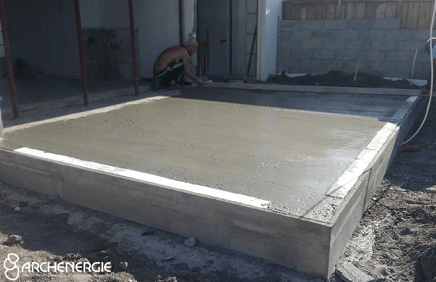 Dalle en béton isolée pour extension mérignac