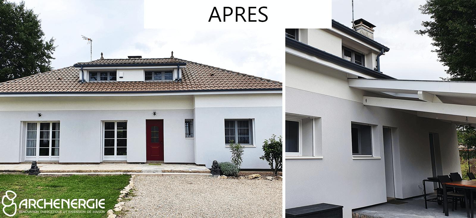 Après ITE et rénovation globale à Saint-Médard-En-Jalles